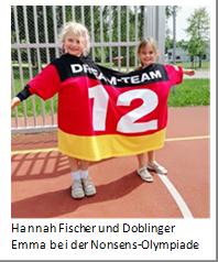 Hannah Fischer und Doblinger Emma bei der Nonsens-Olympiade